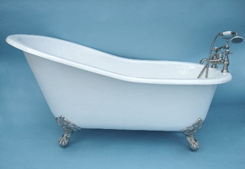 68 Slipper Clawfoot Bathtub With Imperial Ball And Claw Feet